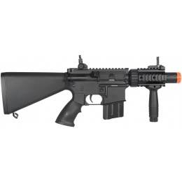 A&K Airsoft M4 Stubby CQB Full Metal w/ Fixed Stock RIS Grip - BLACK