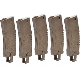 ARES Airsoft Amoeba 140 Rd Sport Line Magazine for M4/M16 - 5 PACK