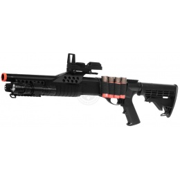350 FPS AGM Airsoft Tactical Pump Action Shotgun w/ Flashlight