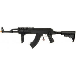 CYMA Airsoft CM028C Tactical AK47 ABS Plastic Version - BLACK