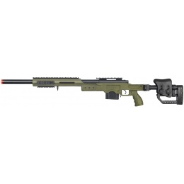 Well Airsoft M24/M28 BOLT Action Rifle w/ Folding Stock - OLIVE DRAB