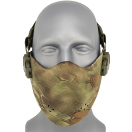 AMA Neoprene Airsoft Hard Foam Lower Face Mask - MAD
