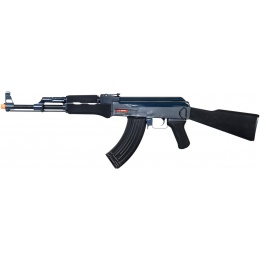 Golden Eagle Airsoft AK47 Airsoft AEG Rifle w/ Full Stock - BLACK/BLUE