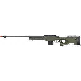 Well Airsoft L96 BOLT Action Rifle w/ Fluted Barrel Optics Rail - OD