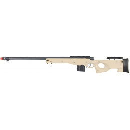 Well Airsoft L96 BOLT Action Rifle w/ Fluted Barrel Optics Rail - TAN