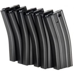ICS Airsoft M4 Magazines Metal 45 Rd Capacity - 6 PACK - BLACK