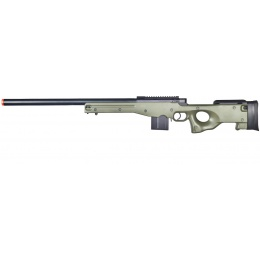 Well Airsoft L96 AWS BOLT Action Rifle w/ Aluminum Barrel Optics Rail - OD