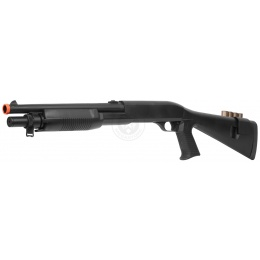 AGM Airsoft M500 Single Shot Pump Action Full Stock Shell-Fed Shotgun