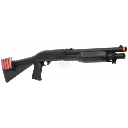 AGM Airsoft M500 Single Shot Pump Action Full Stock Shell-Fed Shotgun
