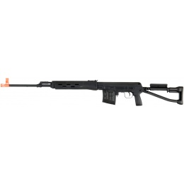 A&K Airsoft SVD S Bolt Action Rifle w/ Folding Stock - BLACK