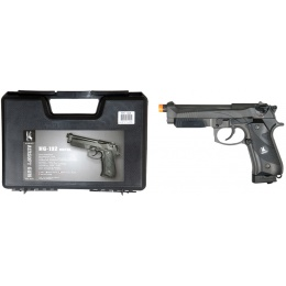 HFC Airsoft 192X Pistol Special Forces CO2 Powered w/ GBB - BLACK