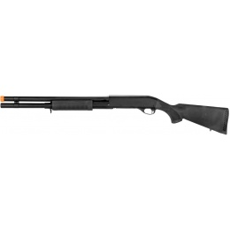 CYMA Airsoft Shotgun Spring Powered Full Stock Long Barrel - BLACK