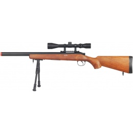 Well Airsoft VSR 10 Bolt Action Rifle w/ Fixed Stock, Scope, Bipod