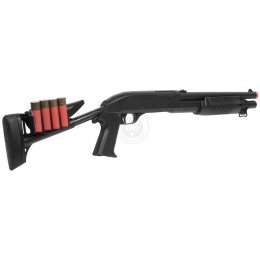 AGM Airsoft M500 Single Shot Pump Action Retractable Stock Shotgun