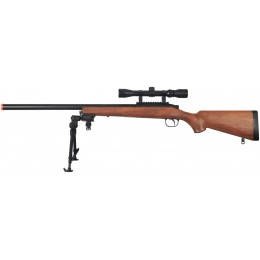 AGM Airsoft VSR 10 Bolt Action Rifle w/ Fixed Stock, Scope, Bipod