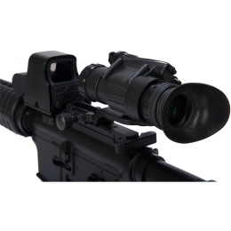 UK Arms Airsoft PVS 14 Scope 3x Magnification w/ Red Laser - BLACK