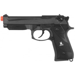 HFC Airsoft 192 Pistol Special Forces Gas Powered w/ GBB - BLACK