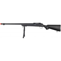 Well Airsoft VSR 10 BOLT Action Rifle w/ Bipod Fluted Barrel - BLACK