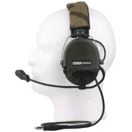 UK ARMS Airsoft MSA Headset w/ New Military Standard Plug