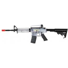 ICS Airsoft M4 AEG Clear Plastic Body Adjustable Stock