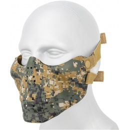 AMA Tactical Skull Lower Face Mask w/ Foam Padding - WOODLAND DIGITAL