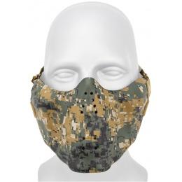 AMA Tactical Skull Lower Face Mask w/ Foam Padding - WOODLAND DIGITAL