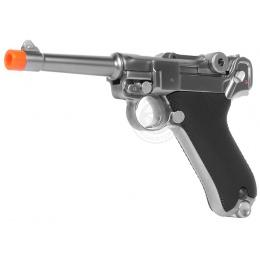 WE Airsoft Full Metal Gas Blowback Short Barrel Luger P08 Pistol WWII
