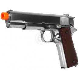 WE Tech M1911 Hi-Capa Airsoft GBB Gas Blowback Pistol - SILVER