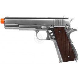 WE Tech M1911 Hi-Capa Airsoft GBB Gas Blowback Pistol - SILVER
