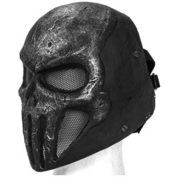 UK Arms Airsoft Skull Punisher Mask w PC Lens Wire Mesh - GREY