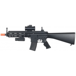 Double Eagle MK416 Full Stock ABS Plastic Construction - BLACK
