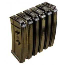 ICS Airsoft SIG Low Cap Magazines 50 Rd Cap - 6 PACK - BLACK
