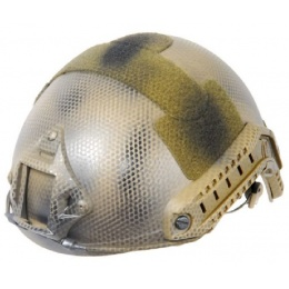 Lancer Tactical Airsoft Helmet Ballistic Type - DARK EARTH - M/L