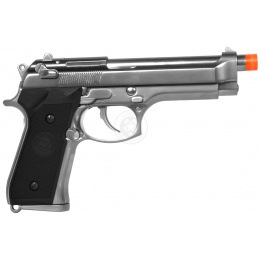 WE Tech Airsoft Full Metal M9 Tactical Gas Blowback Pistol - SILVER