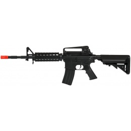 CYMA Airsoft M4 AEG Quad RIS SOPMOD Adjustable Stock - BLACK