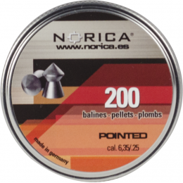 Valken Norica 0.25 Cal 6.35mm Air Gun Pellets - POINTED - 200 COUNT