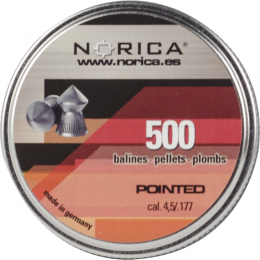 Valken Norica 0.177 Cal 4.5mm Air Gun Pellets - POINTED - 500 COUNT