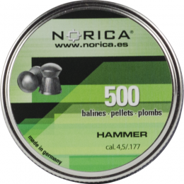 Valken Norica 0.177 Cal 4.5mm Air Gun Pellets - HAMMER - 500 COUNT
