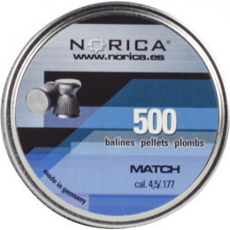 Valken Norica 0.177 Cal 4.5mm Air Gun Pellets - MATCH - 500 COUNT