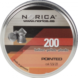 Valken Norica 0.22 Cal 5.5mm Air Gun Pellets - POINTED - 200 COUNT