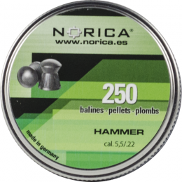 Valken Norica 0.22 Cal 5.5mm Air Gun Pellets - HAMMER - 250 COUNT