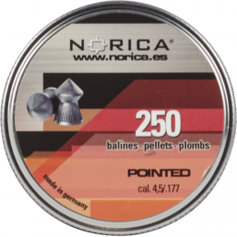 Valken Norica 0.177 Cal 4.5mm Air Gun Pellets - POINTED - 250 COUNT