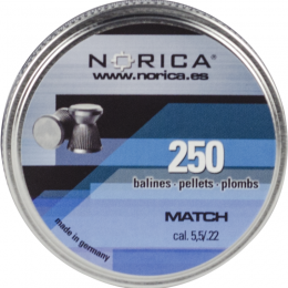 Valken Norica 0.22 Cal 5.5mm Air Gun Pellets - MATCH - 250 COUNT