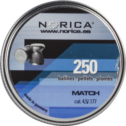 Valken Norica 0.177 Cal 4.5mm Air Gun Pellets - MATCH - 250 COUNT