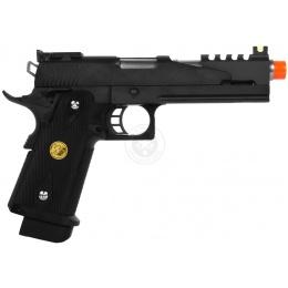 WE Hi Capa 5.1 Full Metal 1911 V4 Airsoft Gas Blowback Pistol - BLACK