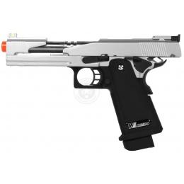 WE Tech Hi-Capa 5.1 Full Metal Gas Blowback Airsoft Pistol - SILVER