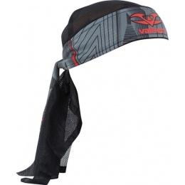 Valken Redemption Vexagon Tactical Headwrap - RED/GREY