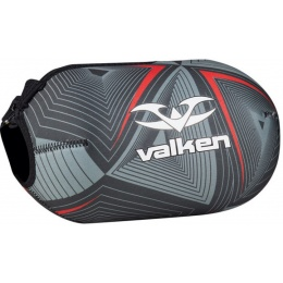 Valken Redemption Vexagon Tank Cover w/Capacity 45ci - RED/GREY