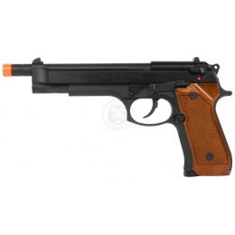 WE Tech Airsoft Full Metal M92-L Extended Gas Blowback Pistol - BLACK