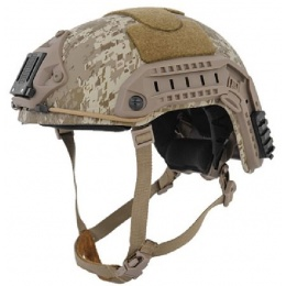 Lancer Tactical Maritime ABS Tactical Gear Helmet - DESERT DIGITAL - M/L